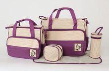 5 sztuk zestaw nowy 7 kolory torba na akcesoria dla mama i dziecko zmiana macierzyński rzeczy torby do przechowywania torba dla mam produkty dla dzieci tanie tanio Torby na pieluchy Drukuj Poliester (30 cm Max Długość 50 cm) 41cm zipper 18cm 33cm Tote Bag #111 Multifunctional Mummy bag Diaper bag