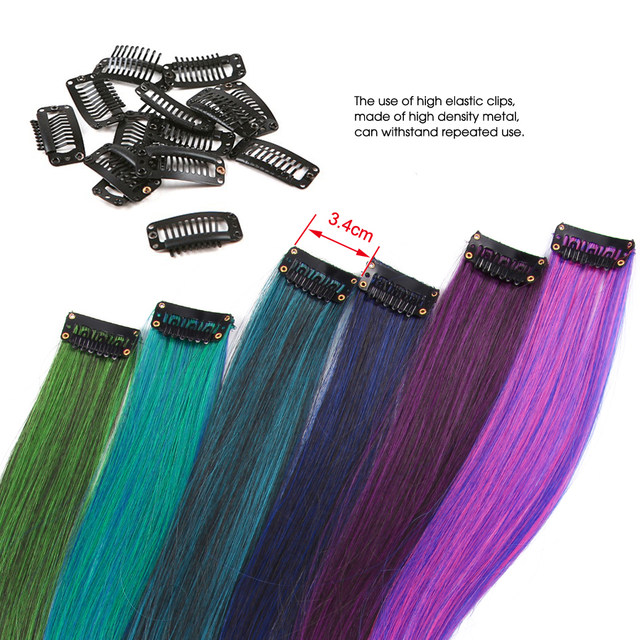 Online Shop Alileader Clip In Hair Extensions Ombre 20 Colors 50cm