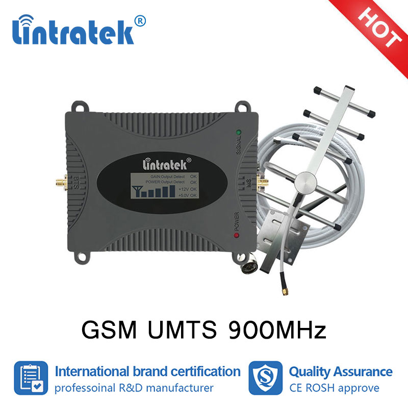 Lintratek GSM 900mhz Cellular Booster 2G GSM Signal Repeater Mobile Cellphone Data and voicel Amplifier Full