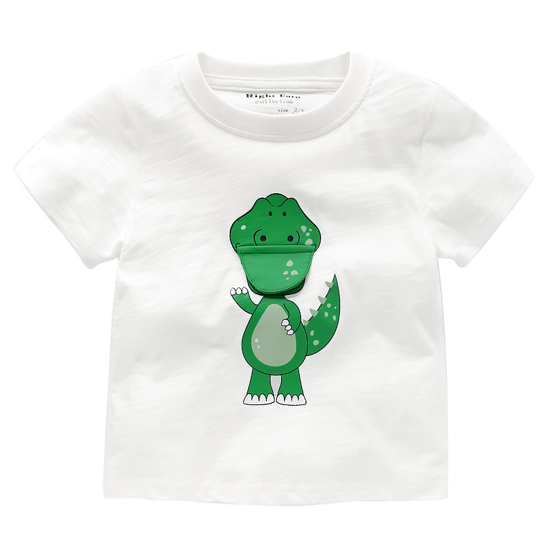 T Shirts Baby Boy Short Sleeve Tops Long Boys T-Shirt Kids Tshirt Dinosaur Kid Clothing Children Top Girl Clothes