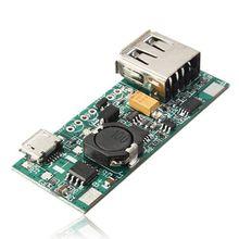 Топ предложения 3,7 V литий-ионный аккумулятор Mini USB к USB A Питание применяется модуль 5V 1A модуль зарядки