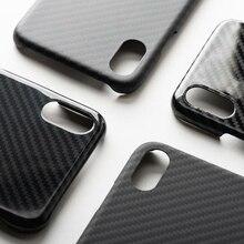 ENMOV Luxury Black Real Carbon Fiber Case Shockproof for