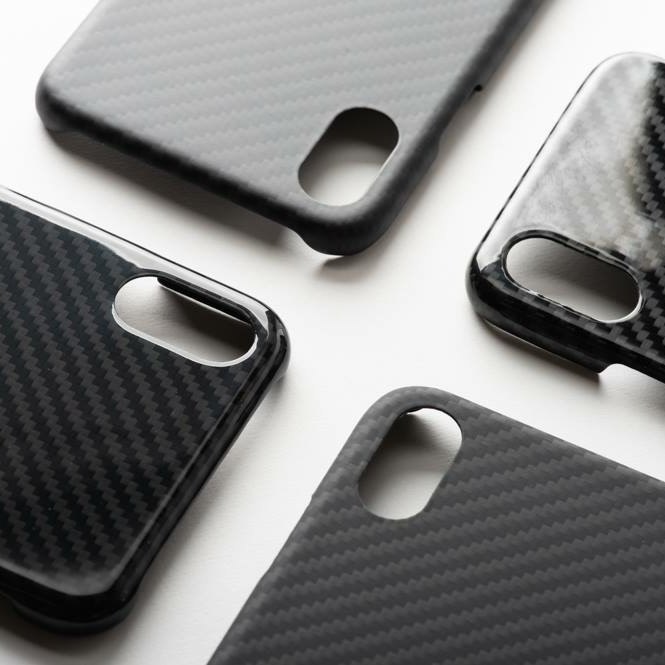 ENMOV Luxury Black Real Carbon Fiber <font><b>Case</b></font> Shockproof for <font><b>iPhone</b></font> Xs Max XR XS 8Plus 7Plus 6s 6 Matte Glossy Shockproof Cover image