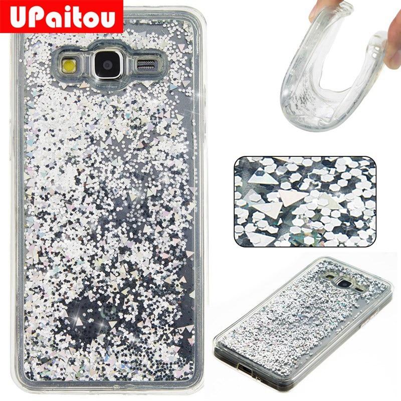 Upaitou dinámico líquido Glitter Carcasas para Samsung Galaxy Grand ...