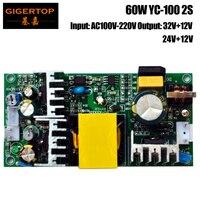TIPTOP YC 100 2S 60W Power Supply for 10W Led Moving Head Light/Mini 30W Spot Led Moving Head 32V+12V Output Power AC100V 220V