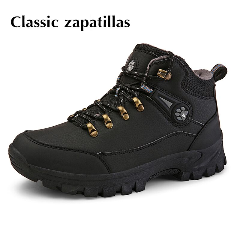 Men Boots Winter Snow Boots Keep Warm Fur Plush Lace Up High Top Waterproof Men Warm Shoes Sneakers Male Winter Boots Big Size size 11 for men winter running shoes super warm snow boots lightweight walking sports lace up sneakers man thick velet trainers