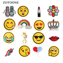 ZOTOONE Cartoon Animal Patches Set Heat Transfers Vinyl for Kid Clothes Christmas Gift For Baby Diy T-shirt Applique Stickers E