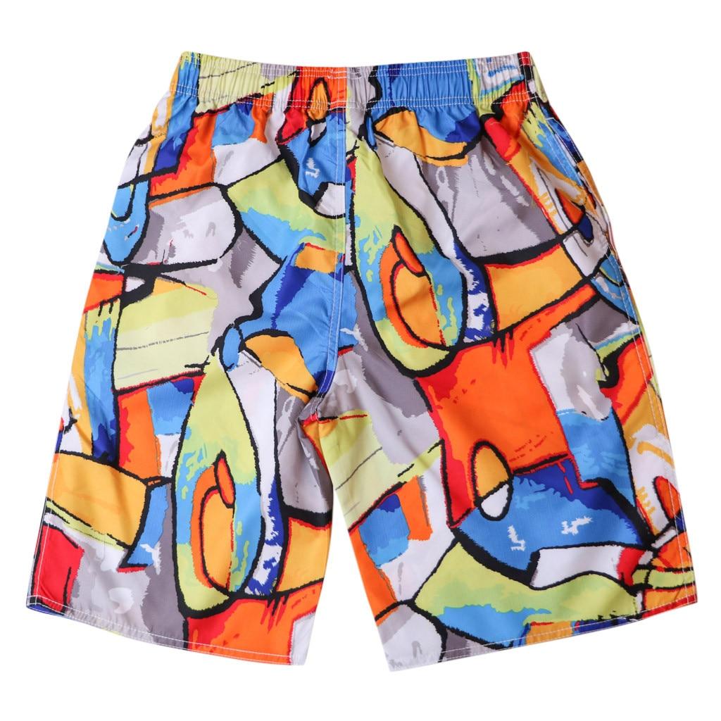 USA Flag Peace Hand Mens Swim Trunks Quick Dry Beach Board Shorts with Drawstring Pocket