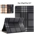 Роскошные Gridiron ИСКУССТВЕННАЯ кожа стенд крышка для iPad pro 9.7, стильный планшет PU Кожаный бумажник флип чехол Для iPad pro 9.7/iPad Air3