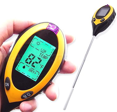 4 in 1  Soil pH Meter  Garden plant survey  Sunlight Moisture pH Temperature  Gardening Instrument mc7812 induction tobacco moisture meter cotton paper building soil fibre materials moisture meter