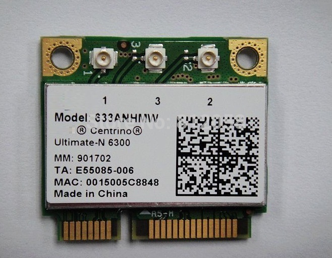 SSEA Wholesale New For Intel Centrino Ultimate-N 6300 633ANHMW 6300AGN Half Mini PCI-E Wireless Card 450Mbps