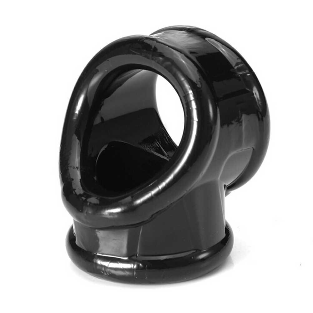 Męskie urządzenie Chastity moszny pierścienie nakładka na penisa Cockrings z opóźnieniem czasowym Cock Cage zabawki dla dorosłych dla mężczyzn Ball nosze Cock Ring