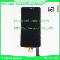 MTK Chip Version Helio X20 For Xiaomi Redmi Note 4 LCD Display Touch Screen Digitizer Assembly