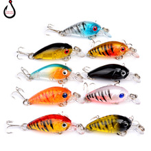 1PCS 4.5cm 4g Crankbait Hard Bait Tight Wobble Japan Slow Floating Fishing Tackle Lure Wobbler Transparent LD-82