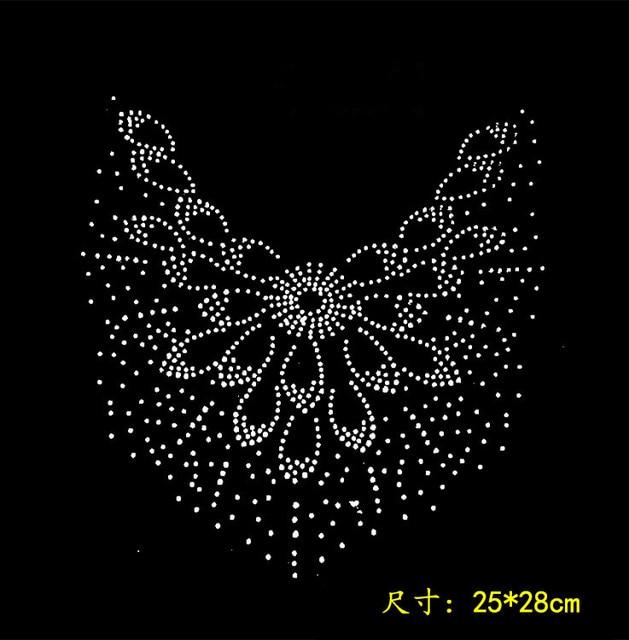 2pc lot peacock flower hot fix rhinestone transfer motifs iron on crystal  transfers design rhinestone 551ce081b183