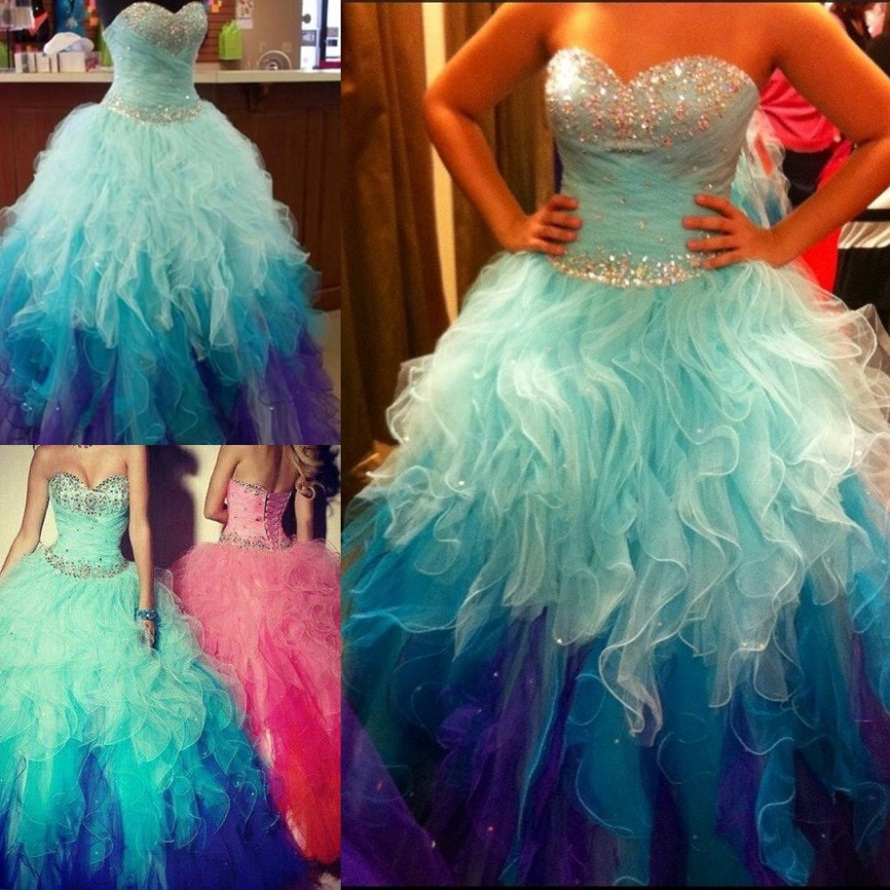 vestidos 15 anos Cheap Quinceanera Gowns Real Sample Sweetheart Organza Ruffles Long Puffy Beading For 15 Years   bridesmaid     dress