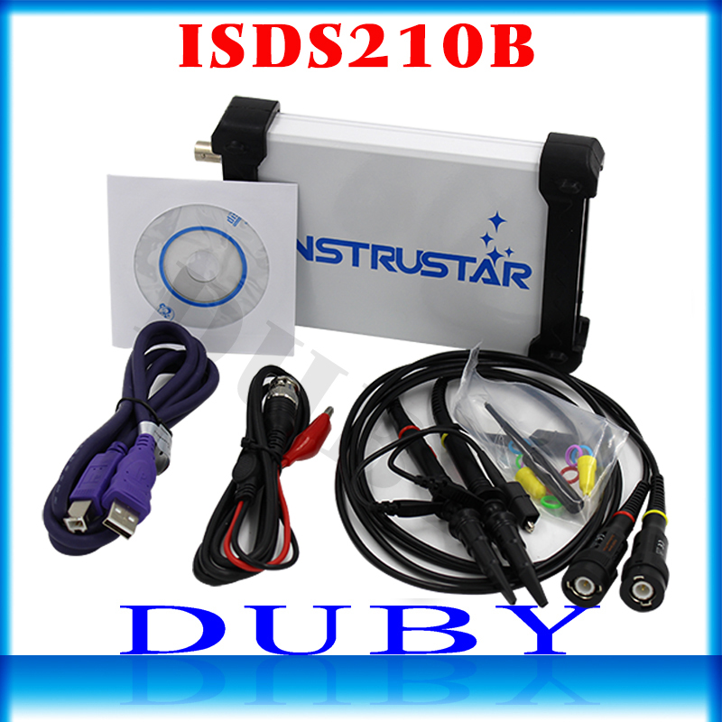ISDS210B 4 IN 1 Dual Channel PC USB Portatile Digitale Oscilloscopio + Analizzatore di Spettro + DDS + Spazzata 40 M 100 MS/s