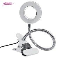 1 компл. Портативный зарядка через USB LED холодный свет стол регулируемый лампы с выключателем для бровей ногтей Для тела Книги по искусству Т...
