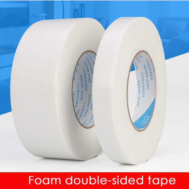White sponge rubber foam rubber foam tape - double sided tape 1-20CM wide *5 m *2MM thick. 10mm 20m 0 5mm double sided black sticky sponge foam tape gasket for android machine mainboard tablet panel seal dust proof