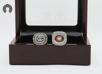Factory Sales Ring Sets With Wooden Boxes Replica Ice Hockey Copper 2pcs Packs Chigaco Bears Championship
