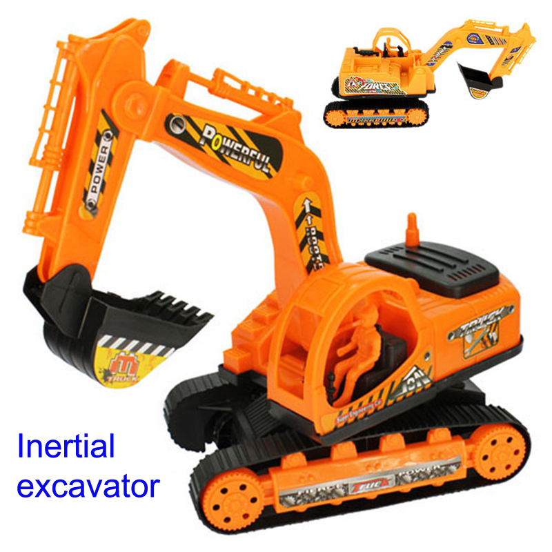 Inertial Excavator toys Kids Truck Back Car Plastic Beach toy Excavator Engineering Car Kids Toys Xmas Gifts Children's Toys