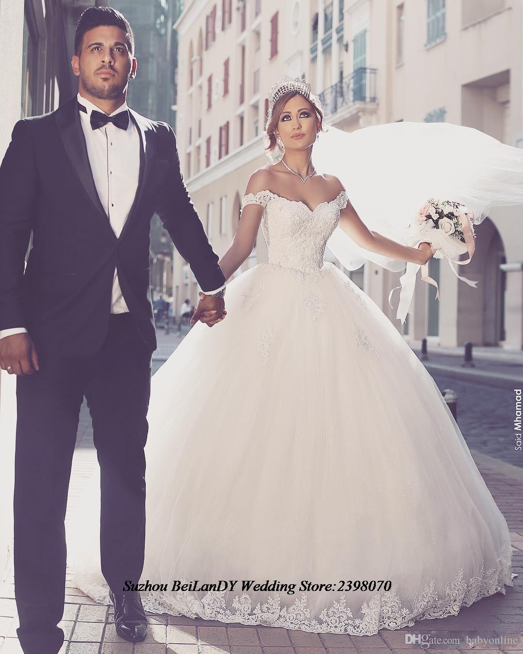2016 Vestios De Noiva Ball Gown Princess Wedding Dress Romantic