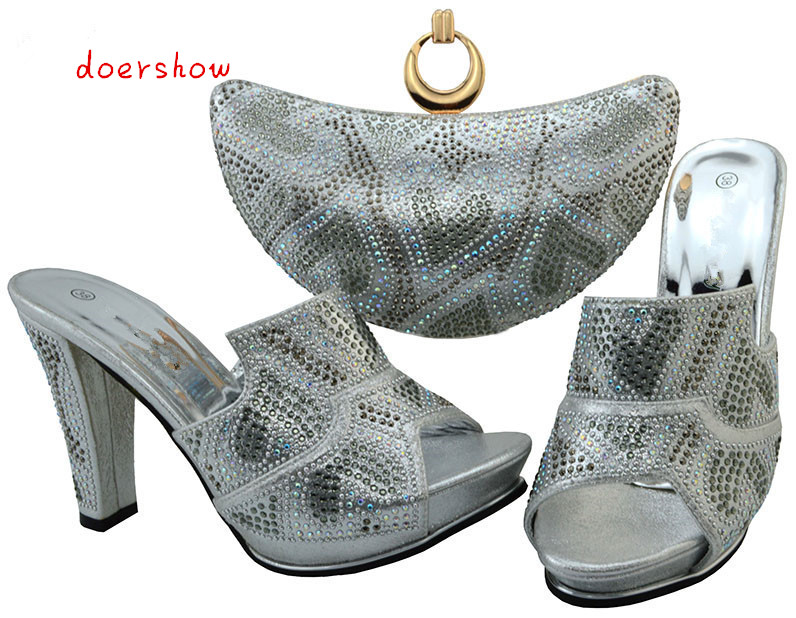 doershow shoes and matching bags italian women shoes and bags to match set sale african shoe and bag sets for party  BCH1-18 good selling african women shoes and bag set fashion shoes heels 9cm italian shoes and bags to match for party as1 4