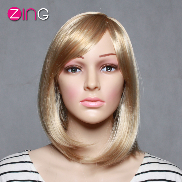 Aliexpress Buy Short Synthetic Blonde Wigs Cute Short