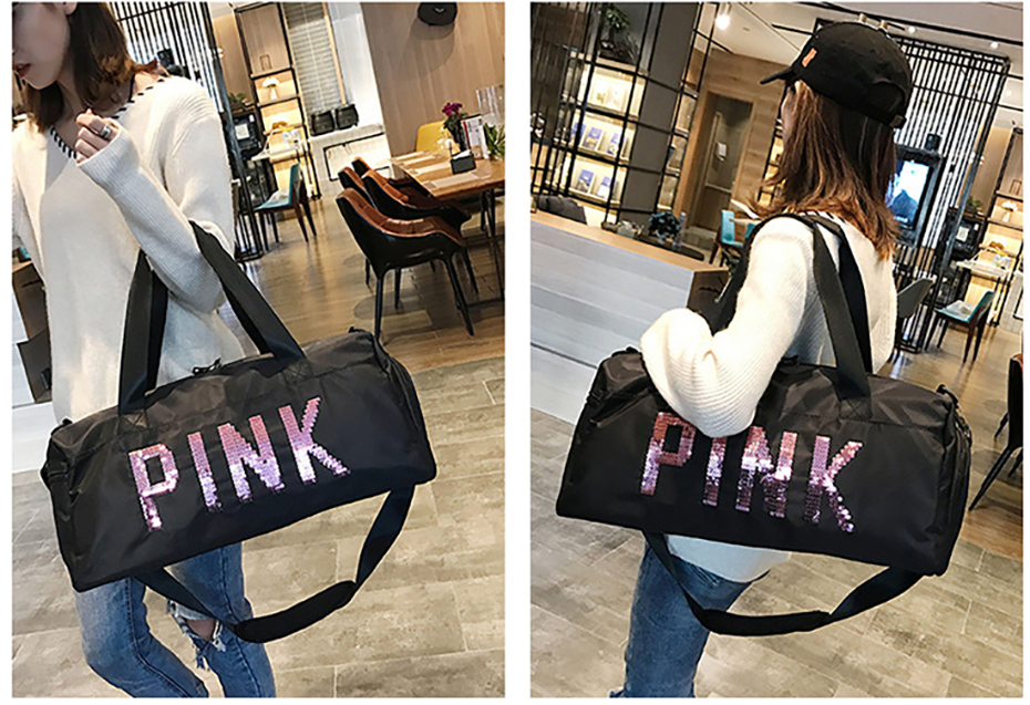 Outdoor Waterproof Nylon Sports Gym Bags Men Women Training Fitness Travel Handbag Yoga Mat Sport Bag with shoes Compartment01003105