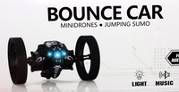 Fun Action & Toy Bounce rc robot toys 2.4G Remote Control jumping stunt car with Rotation LED Night Light gift