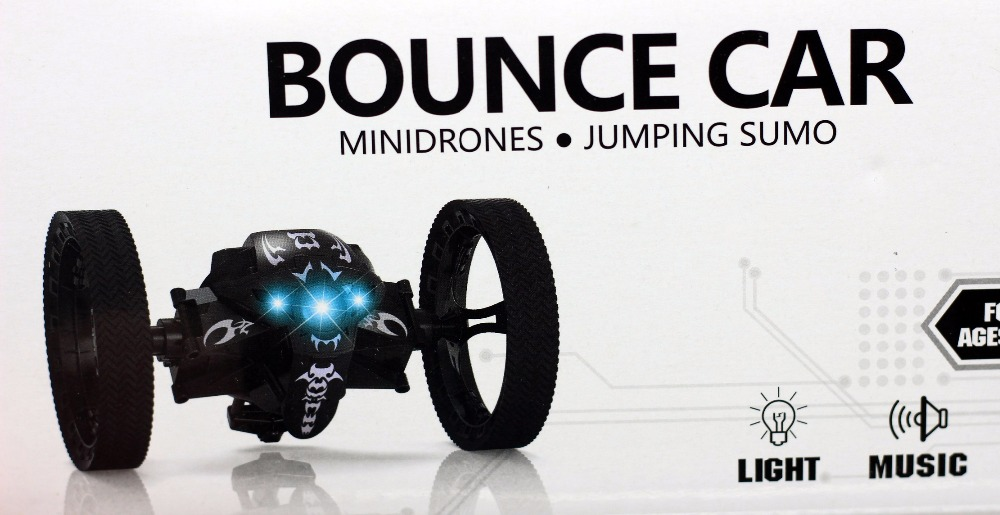 Fun Action & Toy Bounce rc robot toys 2.4G Remote Control jumping stunt car with Rotation LED Night Light gift rc car bounce car peg 88 2 4g remote control toys jumping car with flexible wheels rotation led night lights rc robot car gift