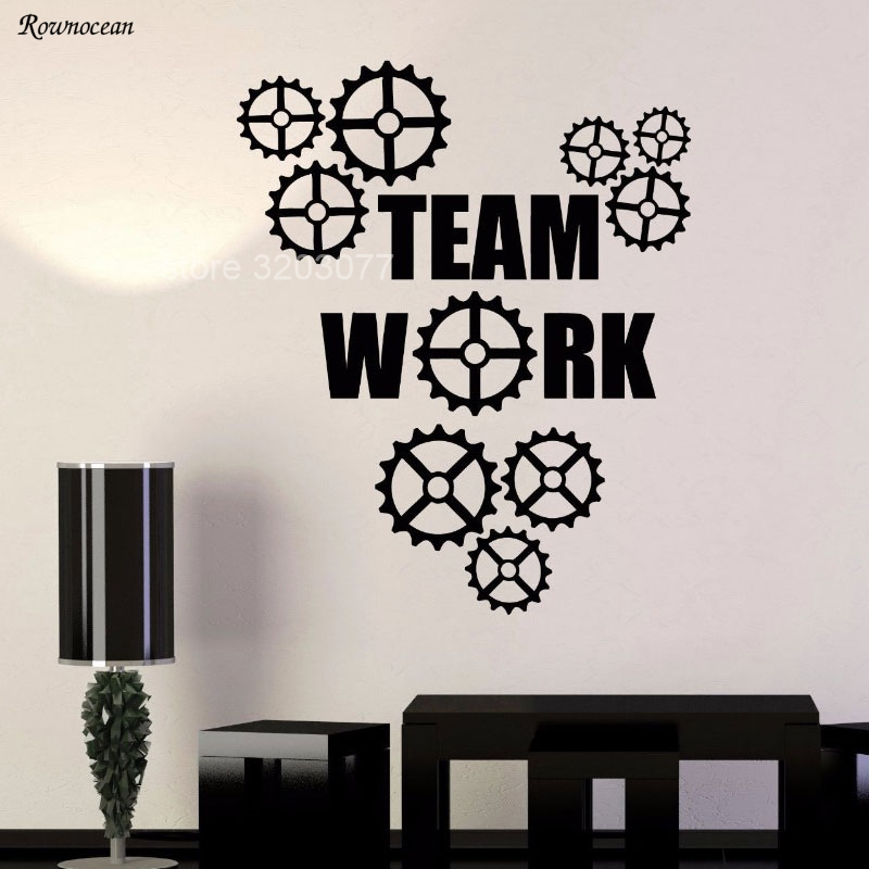 High Quality Creative Gears Wall Stickers Home Decor Living Room Removable Vinyl Decal Mural Office Wall Window Decoration H552