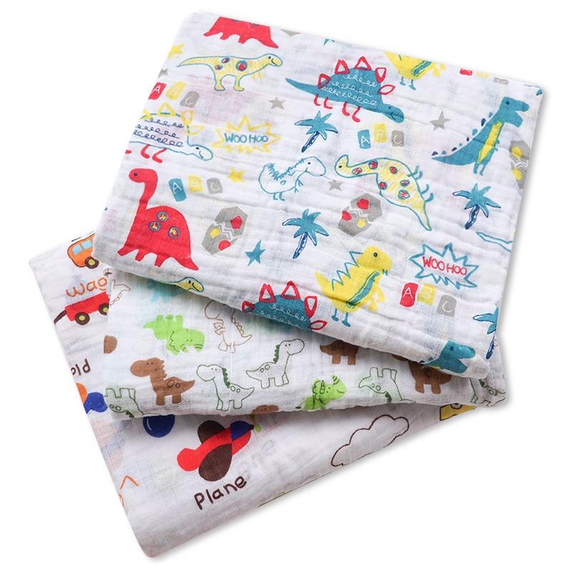Muslinlife 1Pc Muslin 100% Cotton Baby Swaddles Soft Newborn Blankets Bath Gauze Infant Wrap Sleepsack Stroller Cove, 120*120cm