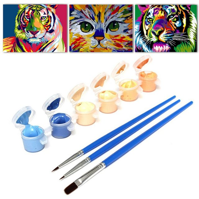 Online-Shop Gemälde durch zahlen DIY Wanddekor Farbe Figurenmalerei ...