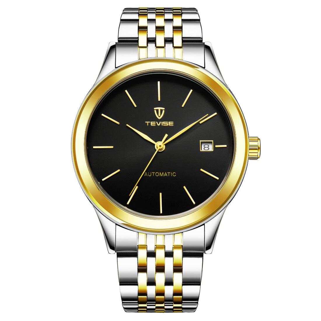 где купить Stainless steel simple quartz watch automatic men sport wristwatch date display big dial business watches men adjustable 2018 по лучшей цене