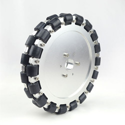 8 INCH 203MM DOUBLE ALUMINUM OMNI WHEEL W BEARING ROLLERS 14125