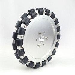 (8 pouces) 203 MM DOUBLE roue en aluminium OMNI avec rouleaux de roulement 14125