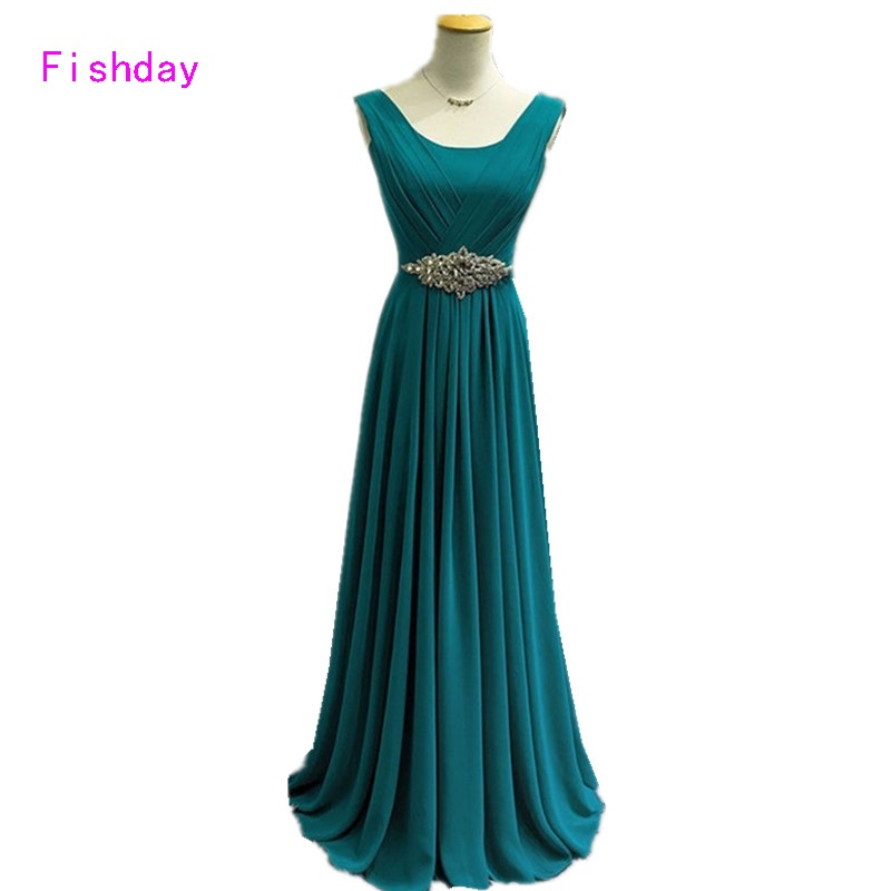 2017 Long Royal Blue Aqua Plus Size Women Formal Abendkleider Evening Dress Mother of the Bride Made In China With Crystals B45