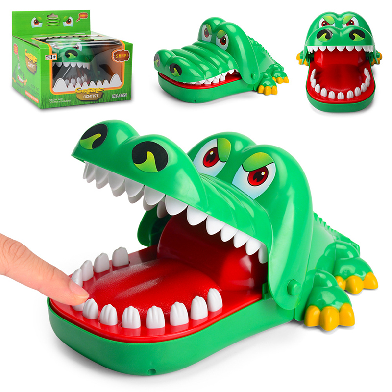 Creative Horror Jokes Toy Mouth Tooth Alligator Hand For Children's Toys Family Games Kids Biting Hand Crocodile Game Large Size