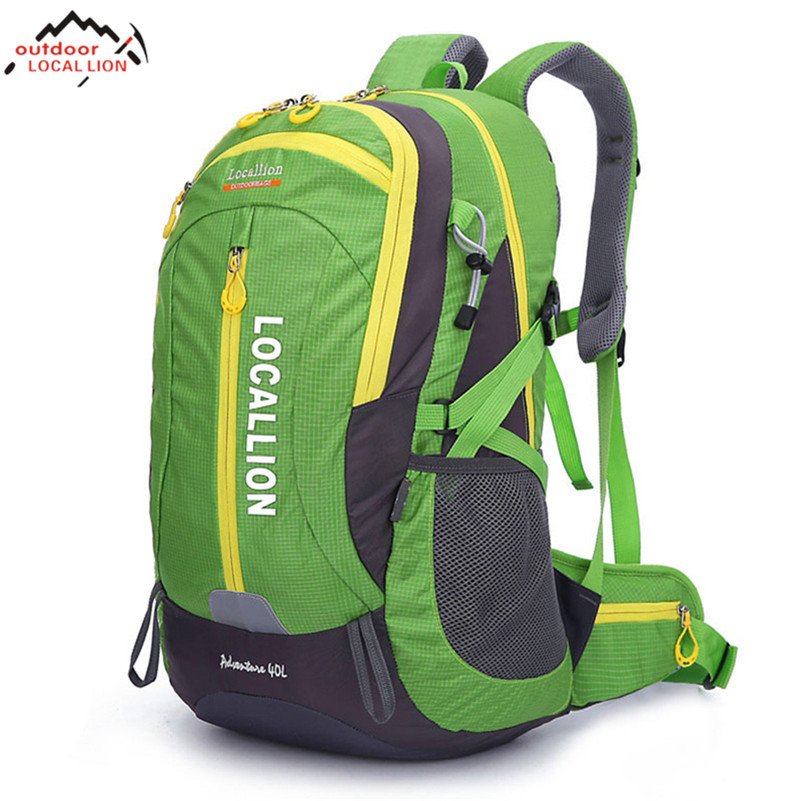 LOCAL LION 40L Ultralight Waterproof Polyester Breathable Anti - skid Hiking Climbing Mountaineering Backpack Sport Outdoor Bags local lion spo464 outdoor cycling climbing ultra light breathable double shoulder bag backpack red