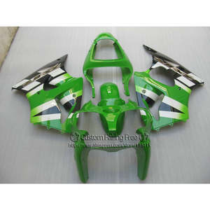 Injection bodywork set for Kawasaki ZX-6R 2000 2001 2002 green white black fairing kit Ninja 636 ZX6R fairings 00 01 02 LX18
