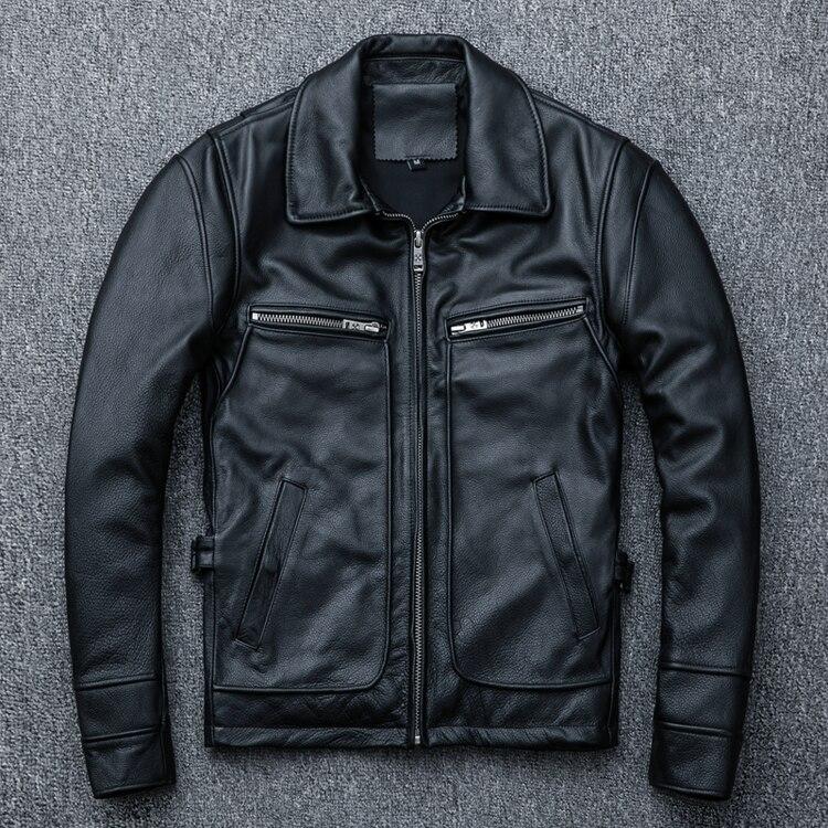 HTB1O6k2E lYBeNjSszcq6zwhFXaX MAPLESTEED Brand Amekaji Motor Biker Style Men Leather Jacket Black Red Brown Cowhide Vintage Jackets Men Winter Coat 5XL M100