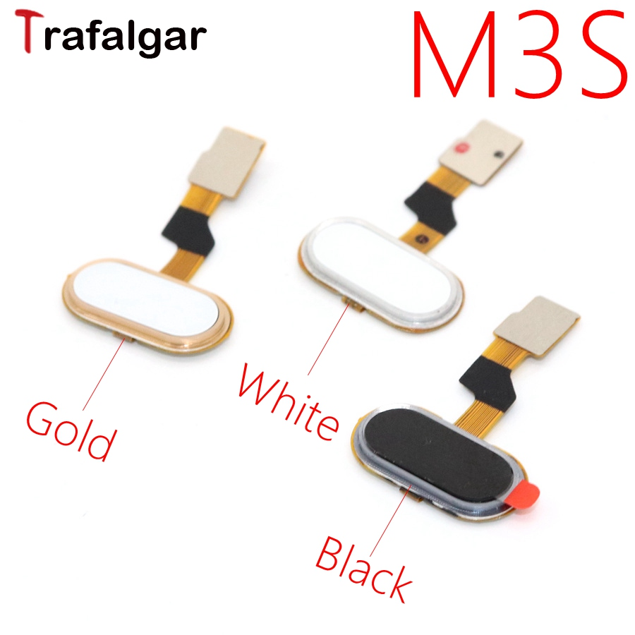 Meizu M3S Home Button FingerPrint Touch ID Sensor Flex Cable Ribbon Replacement Parts MEIZU M3S Button Key Black/White/Golden(China)