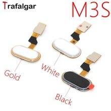 Para meizu m3s casa botão de impressão digital touch id sensor cabo flexível fita substituição para meizu m3s botão chave preto/branco/dourado