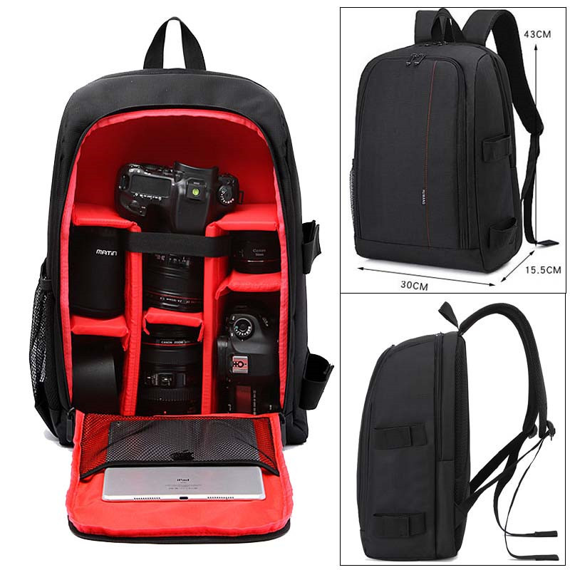 SLR Camera Bag for Photographer w/Rain Cover Upgrade Waterproof multi-functional