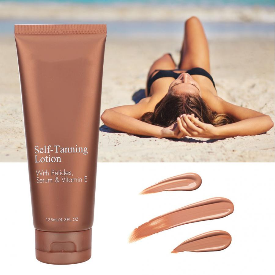 125ml Self Tanner Longlasting Moisturizing Sunless Tanning Lotion Body Cream for Men and Women(China)