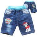 2016 New summer style cartoon patrol boys pants Jeans girls kids jeans short pants Children Trousers clothing Free shipping