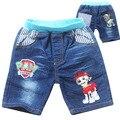 2016 Nuevo estilo de la historieta del verano muchachos pantalones Vaqueros de patrulla niñas niños jeans pantalones cortos Pantalones de Los Niños arropa El Envío libre