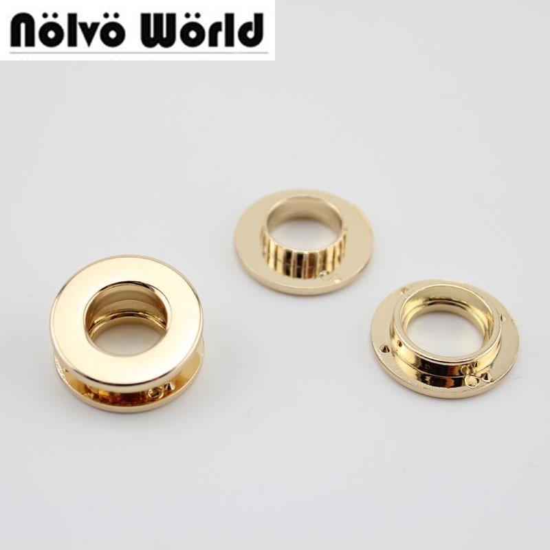 50 шт. 5 цветов 20.5x10.7 мм люверсы медные золотые люверсы, круглые нажимные люверсы