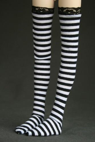 [wamami] 11# ACC Black Stripe Socks/Stockings 1/3 SD DOD BJD Dollfie